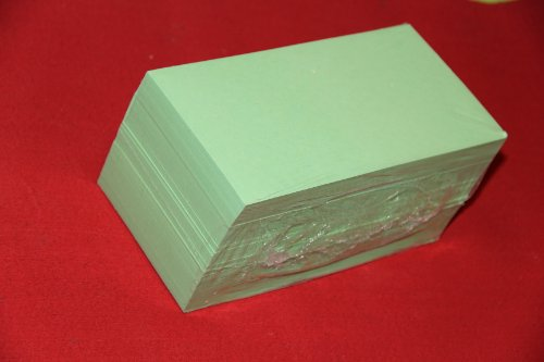 """""""die Dicken"""" 500 Moderationskarten Rechteck 10x20cm pastell grün 170 g/qm, Inh. 500 Stück Rechtecke"""