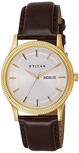 41eWlmZI8KL - Titan 1650YL01 Champagne Mens watch