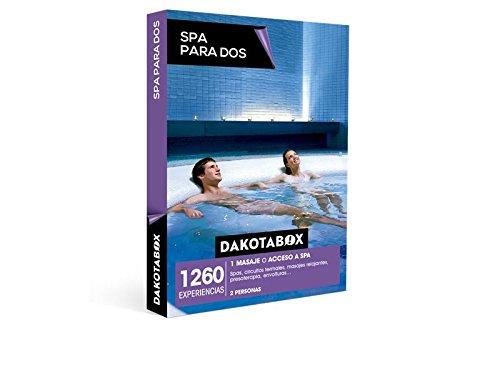 DAKOTABOX – Caja Regalo – SPA PARA DOS – 1260 Circuitos termales, acceso a spa baños árabes, hamman, masajes relajantes, envolturas…