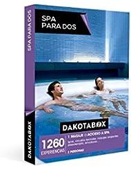 DAKOTABOX - Caja Regalo - SPA PARA DOS - 1260 Circuitos termales, acceso a spa baños árabes, hamman, masajes relajantes, envolturas...