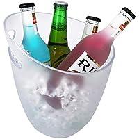 Nilefen 4 botella transparente suizo moderno cubo de hielo buena hasta para 4 botellas de vino