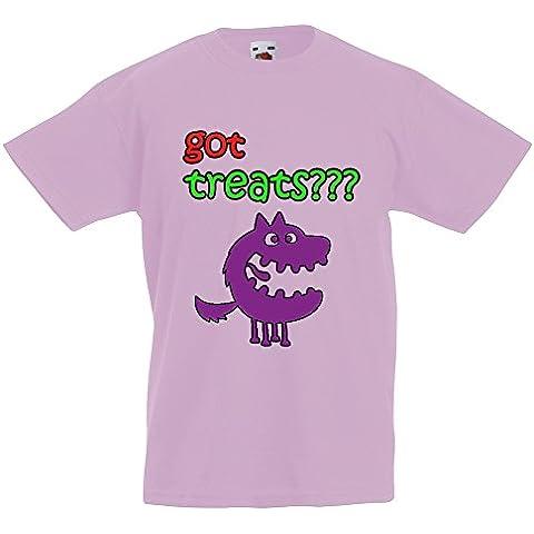 Collezione 194, Fruit of the Loom Valueweight Tee Rosa Pastello Bambino Ragazzo Maglietta Kids Boys T-Shirt. Taglia 92 98 104 116 128 140 152 164, 1-15 Anni.