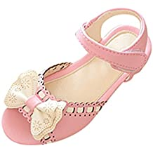 NiSeng Niñas Bowknot Princesa Sandalias Verano Moda Ceremonia Zapatillas Fiesta Sandalias