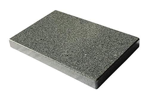 Rechteckiger Grillstein aus Granit für den eckigen Grill - 30x20x3cm