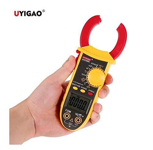 Uyigao ua5268C Marke New AC/DC Tragbare elektronische Handheld LCD Diaplay Digitales Zangenamperemeter mit Test Lead Multimeter Spannung Strom Widerstand Temperatur Frequenz Tester - Test Spannung Multimeter