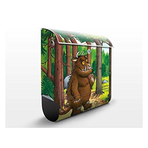 Design Briefkasten Grüffelo Waldspaziergang   Kinder Zimmer Kinderbuch, Postkasten mit Zeitungsrolle, Wandbriefkasten, Mailbox, Letterbox, Briefkastenanlage, Dekorfolie