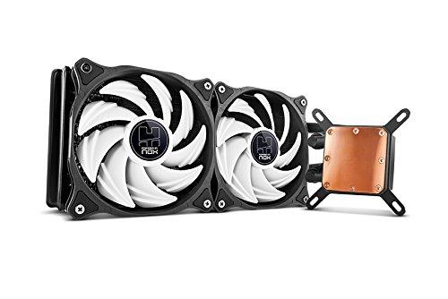 Nox H-240CL - Refrigeración líquida para ordinadores, Negro y Blanco