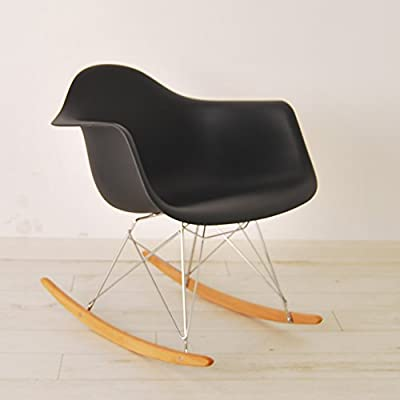 HNNHOME Eames Inspired Rar Lounge Retro Rocker Rocking Chair Leisure Armchair Panton - inexpensive UK light shop.