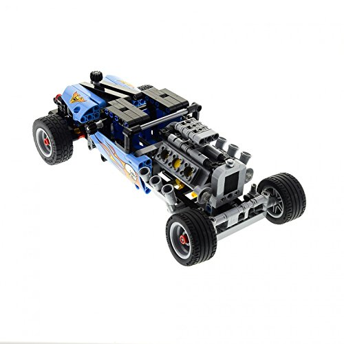 Preisvergleich Produktbild 1 x Lego Technic Set Modell Race 42022 Hot Rod Car Technik Rennwagen hell blau Auto Tool Shop UW incomplete unvollständig