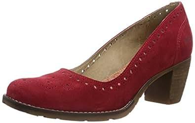 DKode  Noah, Chaussures à talons - Avant du pieds couvert femme - Rouge - Rot (Red 017), 39 EU