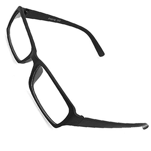 DealMux Plastic Full-Felge Klar Len Plain Gläser Blk für Unisex