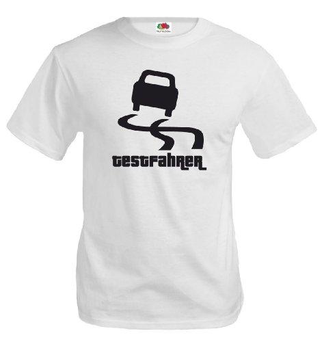 T-Shirt Testfahrer-XXXL-White-Black