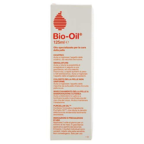 Bio-Oil Olio Specializzato per la Cura della Pelle con Vitamina A ed E, con Estratti di Camomilla, Lavanda, Rosmarino e Calendula, Contro la Pelle Secca, Smagliature e Cicatrici - 125 ml.