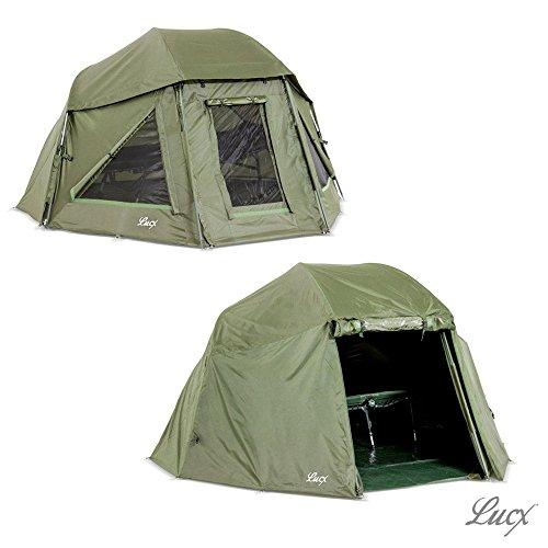 Lucx Schirmzelt + Überwurf/Brolly Incl. Winterskin/Shelter with Overwrap/Angelzelt/Karpfenzelt/10.000mm Wassersäule