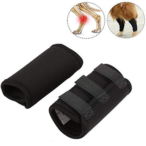 Kniebandage für Hunde, 1 Paar Hundekniepolster Hundevorderbein Klammer Knie Schutz Bandage Verbandwickel für Schützt Wunden und Hilft bei Gelenkentzündung und Arthritis(M)
