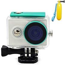 First2savvv XM-FSK-06QSB Carcasa Recubrimiento Protectora Prueba Agua para Cámara Xiaomi Yi Action verde + Flotabilidad Handheld palillo