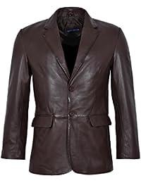 Klassischen Blazer 9124 der Männer Braun Tailored Weiche Echt Nappa  Lederjacke-Mantel 55b6aaa906