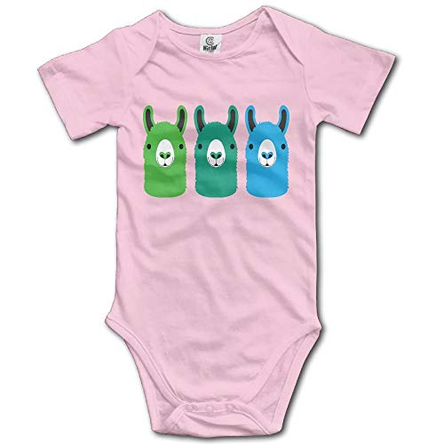 SDFGSE Color Alpaca Toddler Short Sleeves Romper Bodysuit for 0-24m Baby - Short Sleeve Romper