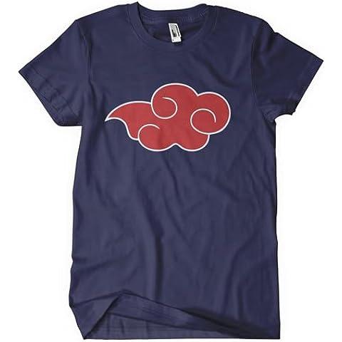 Naruto Shippuden T-camisa de manga corta inspirado en el manga para el diseño de el viaje de Akatsuki en color azul
