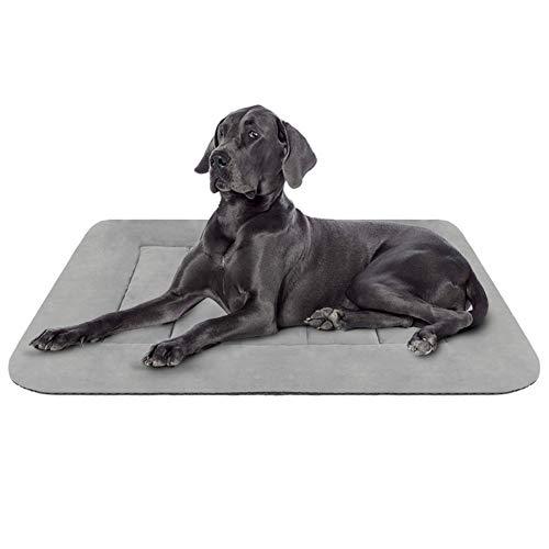 Hero Dog Hundebett Grosse Hunde 107 x 70 Weiche Hundedecken Waschbar Hundematte Kissen Rutschfest Grau L