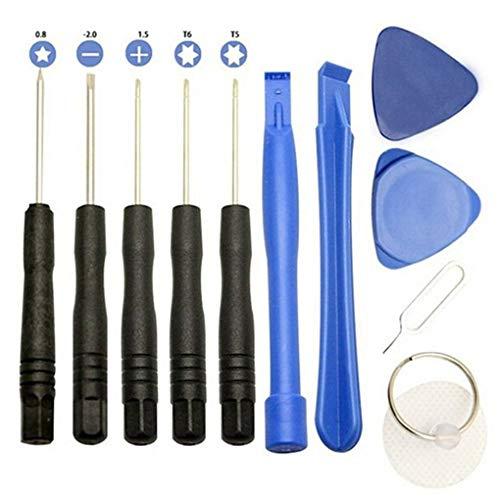Yujum 11PCS / 11 Set in 1 Handys Öffnungs-Hebel-Reparatur-Werkzeug-Kits Smartphone Schraubendreher-Werkzeug-Set für iPhone Samsung