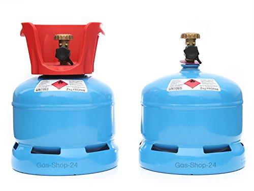 Propangasflasche/Gasflasche 2 kg mit Abnehmbaren Schutzkragen (Propan, Gasflasche Kleiner als 3 kg/5 kg/11 kg) (Backofen Propan-herd,)