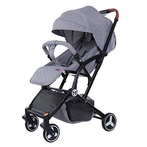 Kinderwagen Travel System, Mit Babykorb Anti-Shock-Federn Neugeborenen, Babyschale Einstellbare High View Pram (Color : Gray) -