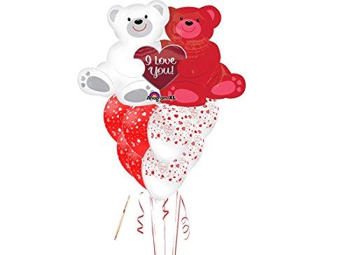 Irpot - composizione palloncini san valentino love bears - orsi innamorati supershape