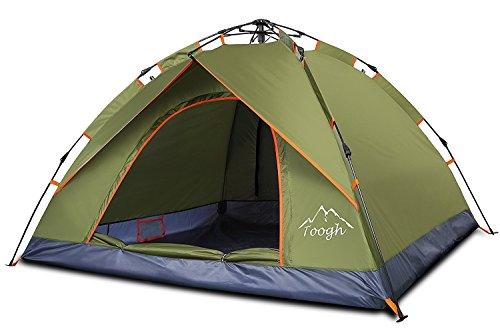 2-3 Personen Pop Up Familien Camping Zelte - Toogh Rucksack Zelte, Drei Jahreszeiten, Doppeltüren Und Moskitonetze, Inklusive Tragetasche