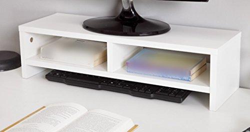 HJHY Rack, Computer Monitor Erhöhte Regal Stent Halterung Tastatur Regal Desktop Incorporated Einfach und elegant ( Farbe : Weiß , größe : 60*20*16cm )