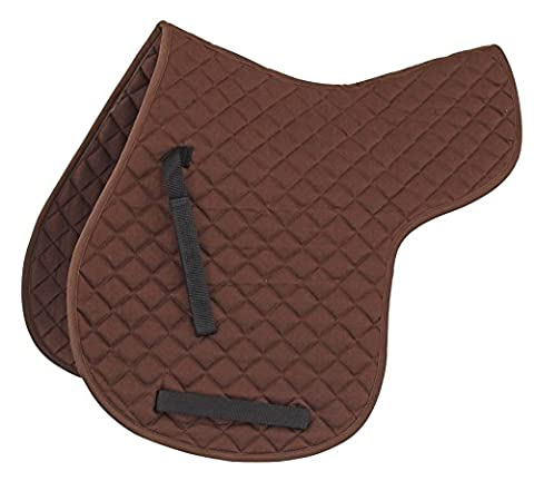 QUILTED NUMNAH HORSE EQUESTRIAN RIDING SADDLE COMFORT [BROWN] [COB]