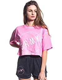 c53c16ea647a5 Grimey Camiseta Chica The Infamous BF Crop tee SS17 Washed Pink