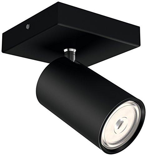 Philips Lighting myLiving Foco iluminación interior GU10, negro