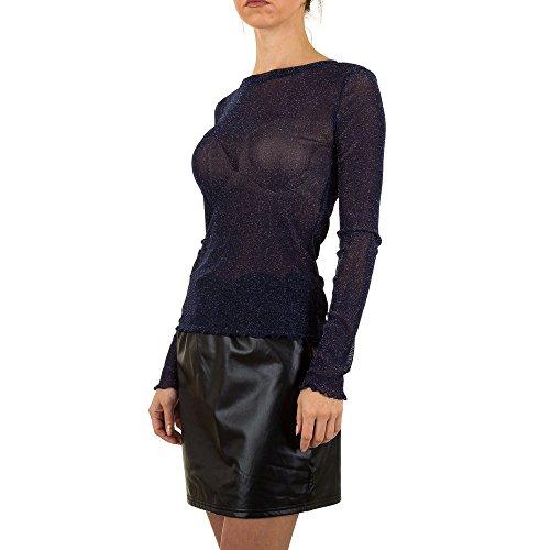 Glänzende Bluse Für Damen bei Ital-Design Dunkelblau