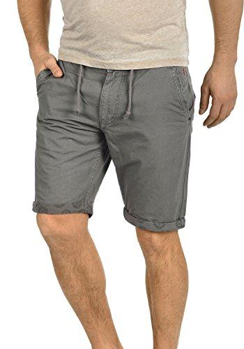 BLEND Claudio Herren Chino-Shorts kurze Hose Business-Shorts aus 100%  Baumwolle Granite