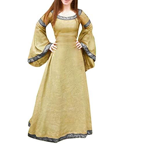 Mittelalterliches Frauenkleid, Mittelalterliches Kleid Vintage Frau Langes Kleid Cosplay Party Kostüm Frauenkleid Maxikleid Sommer Frau