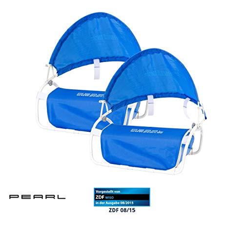 PEARL Sonnenschutz Kopf Strand: Nacken-Kissen mit Sonnenschutz für Strand und Outdoor 2er-Set (Kopfstütze mit Sonnenschutz)