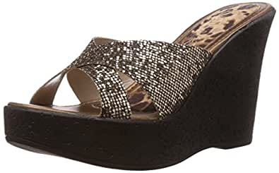 Catwalk Women's Bronze Slippers - 9 UK/India (41 EU) (6621BX)
