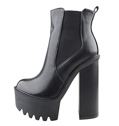 Eyekepper Chaussure fashion femme demoiselle - chaussures botte a talon haut Noir