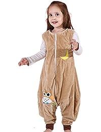 MICHLEY BéBé Sleepsack Flanelle Wearable couverture, Poids léger BéBé Filles Sans manches Gigoteuses avec pieds 1-5T