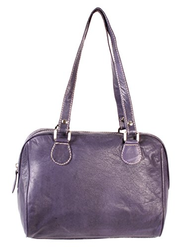 Rl 664 Londres Violet Mesdames sac à main en cuir véritable – Oxbridge Medium Fashion Bag