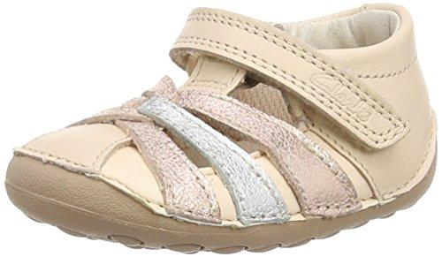 Clarks Little Mae - Sneakers per bambine e ragazze Oro (Rose Gold)