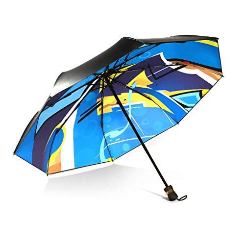 83475fff07c9 JSSFQK Creative Sun Umbrella Women Protección Solar UV Lluvia y Lluvia  Umbrella Paraguas Plegable portátil Paraguas (Color : A)
