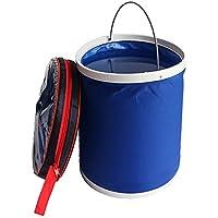 Salasinger Cubo Plegable Plegable Duitable para Acampar Pesca Remar Beach Car Wash Almacenamiento portátil Productos (Azul)