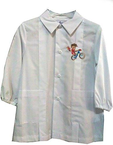 Siggi grembiule asilo 33gr2005 scuola materna bambino bimbo colore bianco 2-7 anni (45 2 anni)