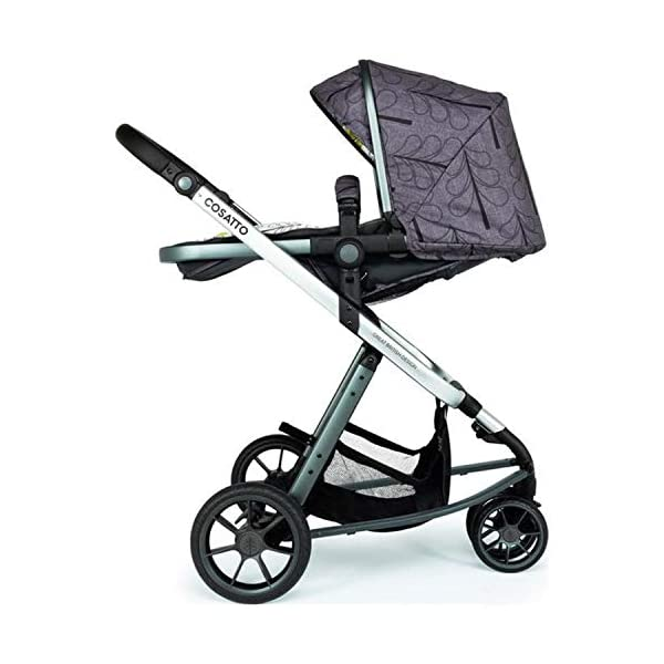 Cosatto Giggle 3 Pram & Pushchair Fika Forest Cosatto Enhanced performance. unique tyre material and all-round premium suspension give air-soft feel. Comfy all-round. spacious carrycot for growing babies.  washable liner. reversible reclining seat. Nippy 3-wheeler. sporty, streamlined manoeuvrability helps negotiate tight spots. 3
