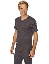 Lot de 3: octave ® sous-vêtement thermique pour homme manches courtes T-Shirt 'V '-Neck hauts