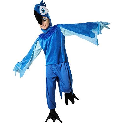Ara Kostüm Kind Blau - dressforfun 900535 Unisex Kinderkostüm Putziger Blauara, In Blau gehaltenes Papageienkostüm (128| Nr. 302475)