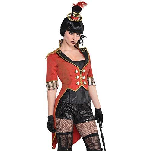 Halloween Freakshow Zirkusdirektorin Frack- Kostümzubehör Damen Gr. Standard