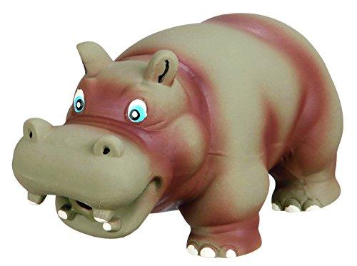 Trixie látex hipopótamo perro juguete con sonido animal original, 17cm), color gris